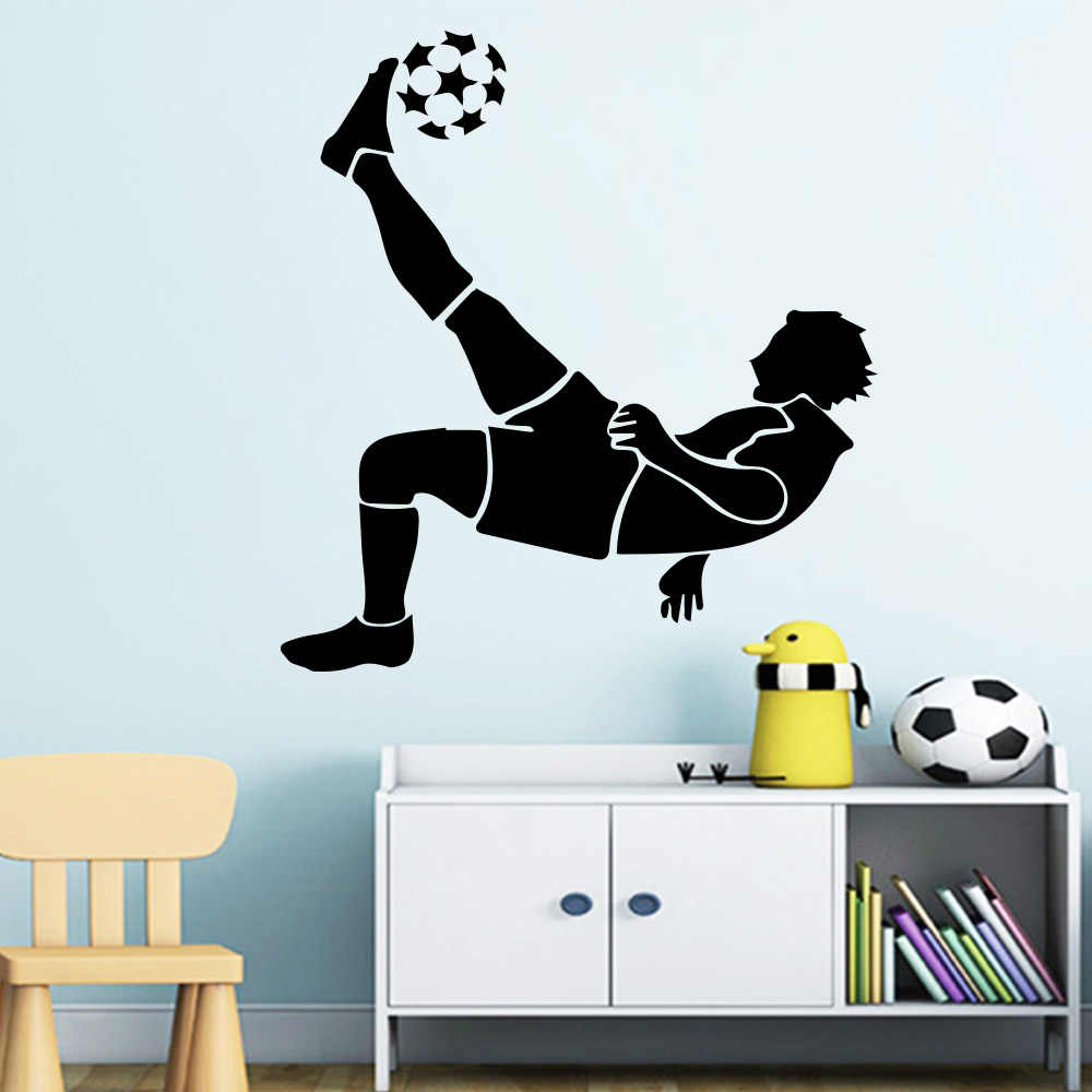 Personalized Name Soccer Wall Decal Soccer Player Wall Etsy In 2020 Baby Room Decals Wall Decals Room Decals