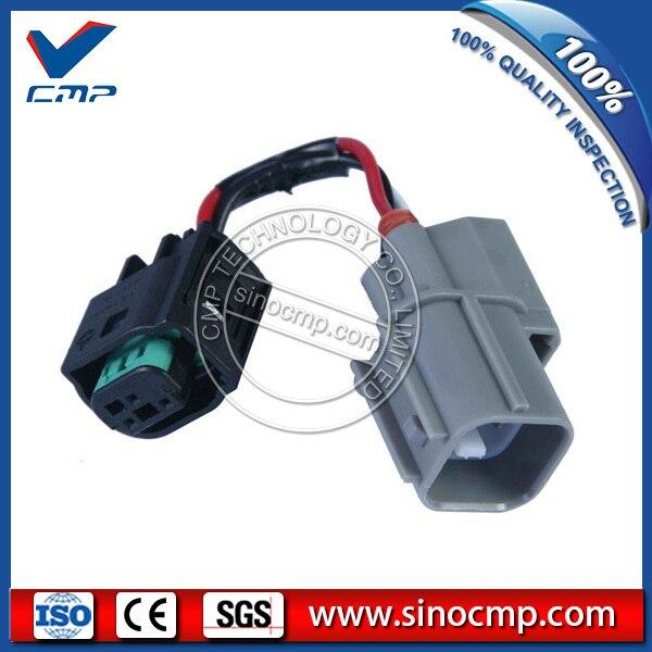 SK200-8E Kobelco SK200-8 Escavadeira Sensor de Pressão Plugue De Conversão YN13E01522P1