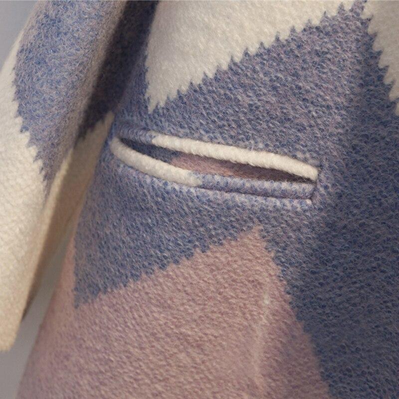 Datos históricos QSC otoño capa abrigo Mujeres Nuevo 2018 de moda de manga larga abrigo de invierno primavera Oficina engrosamiento cuello abrigo - 6
