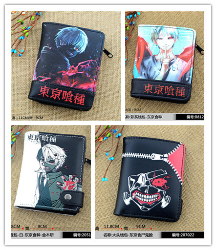 4 styles Tokyo Ghoul cartoon Wallets anime Kaneki Ken cosplay accessories zipper gift for friend Free shipping 2017 anime cartoon tokyo ghoul bag kaneki ken school bags travel durable teenager school tokyo ghoul cosplay backpack