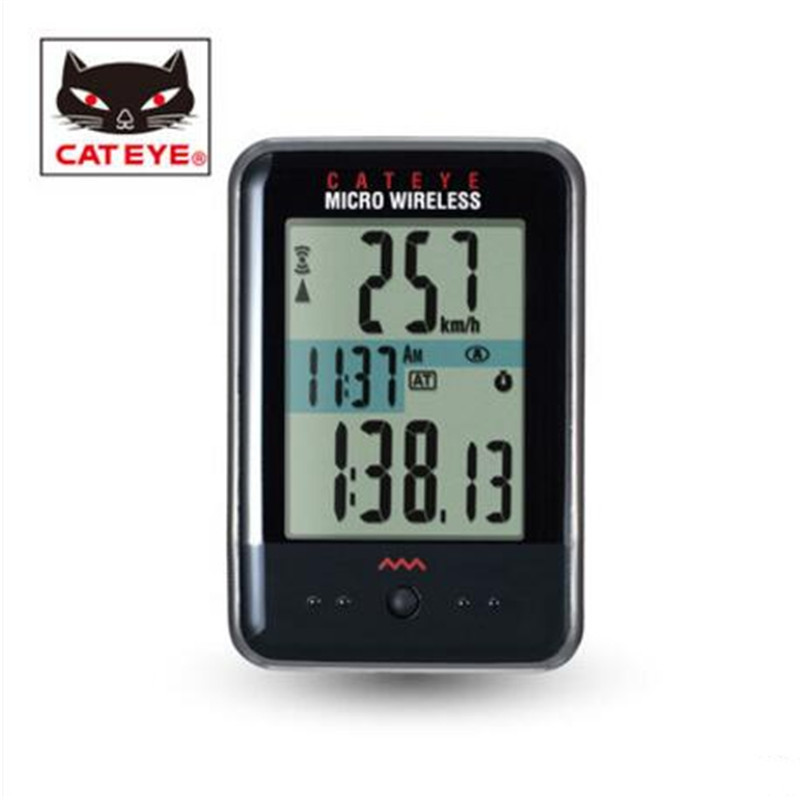 CATEYE CC-MC200W Micro Wireless Cycling Computer Black/White back light lamp mountain bike multi function bicycle equipment
