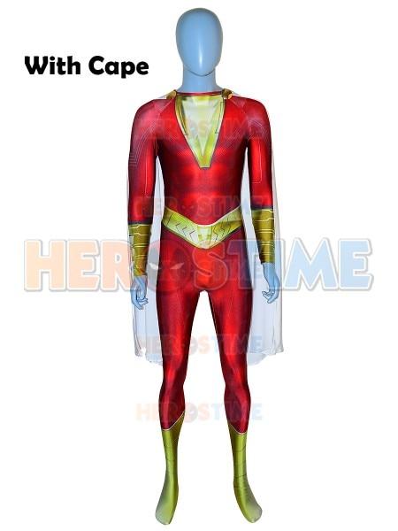 Shazam Suit Shazam Film Version Billy Botson Cosplay Costume 3D Printed High Quality Lycra Spandex Zentai