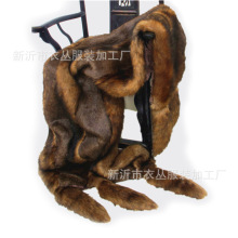 Imitation red fox fur throw imitation animal sofa blanket for Villa Hotel