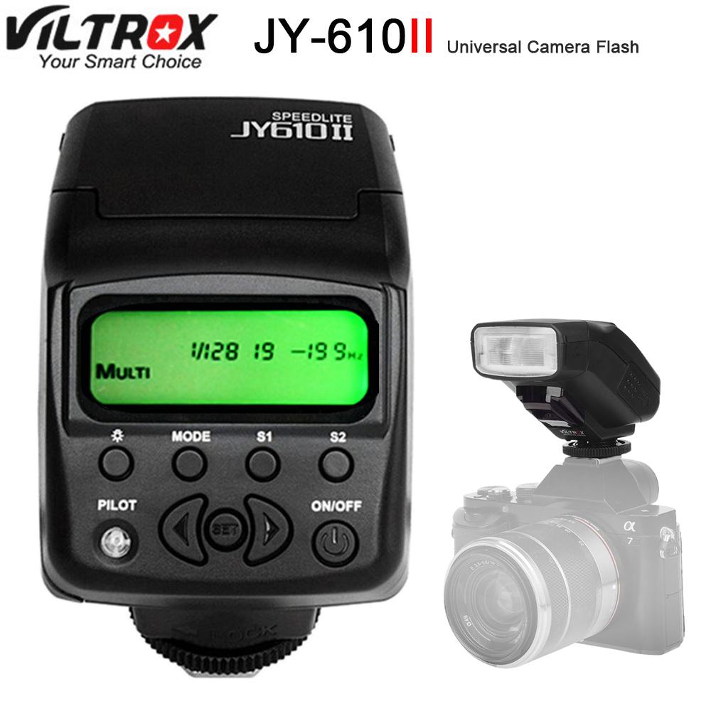 Viltrox JY-610II Mini LCD Camera Flash Speedlite for Canon Nikon Pentax Sony a9 a6500 a7sii a7rii a7s a7r a6300 a6000 a7 a3000