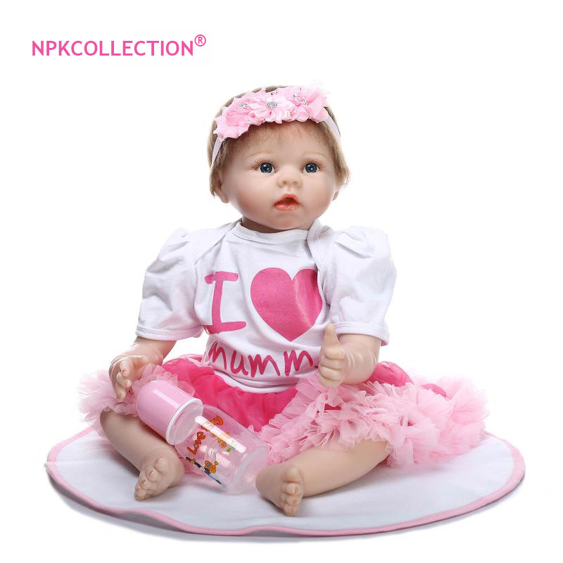 55CM Silicone Reborn Doll Bonecas Baby 22Realistic Reborn Doll with Magnetic Pacifier Bebe Bjd Doll Reborn Baby for Girls Gifts