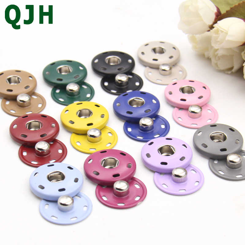 6set/bag Metal Snap Button Clasp buttons Fashion Suit buckle Invisible Child Buckling Clothes Metal Down Jacket large snap