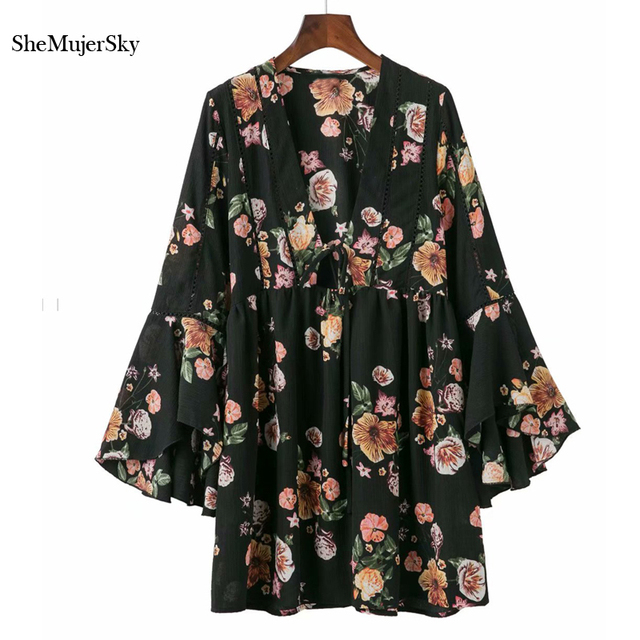 La Mejor Compra Shemujersky Mujeres Vestido Negro Flores