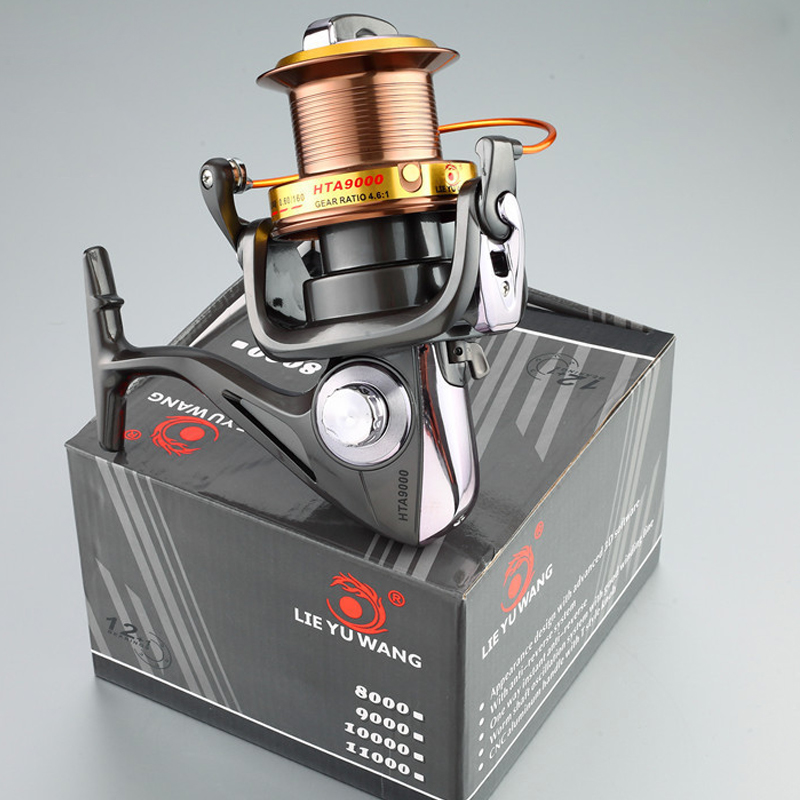 LIEYUWANG Fishing Spinning Reel Left/Right Interchangeable Aluminum Spool 12+1 Ball Bearing Wheel Line Roller Fishing Tackles free delivery hynix fishing reels 12 1bb ball bearings left right hand interchangeable spinning reel 1000 7000 5 2 1 fishing