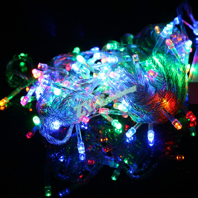100pcs 10M 100LEDs <font><b>LED</b></font> string light 220/110V Christmas Holiday Wedding Party Garland Lighting Male and female connector by DHL image
