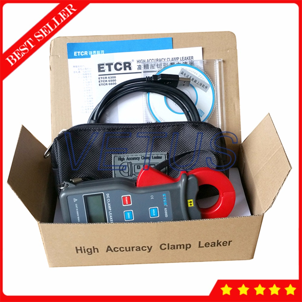 ETCR6300D 0~6.00A DC Leakage Current Clamp Meter Measurement with USB interface on-line monitoring functionETCR6300D 0~6.00A DC Leakage Current Clamp Meter Measurement with USB interface on-line monitoring function