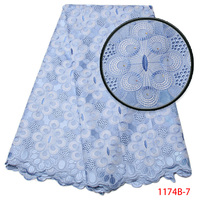 High Quality Swiss Voile Lace 2017 African Lace Fabric African Swiss Cotton Voile Lace Fabric With Stones For Clothes XY1174B 7