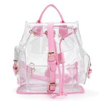 Backpacks High Quality Women's Clear Plastic See Through Security Transparent Backpack Bag Travel Bag Dropshipping ju13