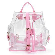 Рюкзаки высокое качество Для женщин Clear Пластик See Through безопасности прозрачный рюкзак сумка дорожная сумка Dropshipping ju13