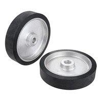 DRELD 250*50mm Belt Grinder Rubber Contact Wheel Abrasive Sanding Belt Set Polishing Sanding Chamfering Grinding Wheel