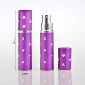 Image 2 - 50pcs/Lot 10ml Refillable Portable Mini Perfume Bottle Atomizer Spray Traveler Aluminum Empty Parfum Bottle