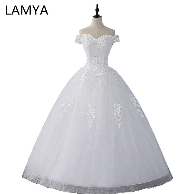 LAMYA Lace Ball Gown Wedding Dresses Cheap Customized Bridal Gowns ...