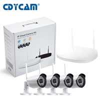Plug And Play 4CH 7200P NVR Wifi CCTV System 4PCS 720P IR Outdoor P2P Wireless IP