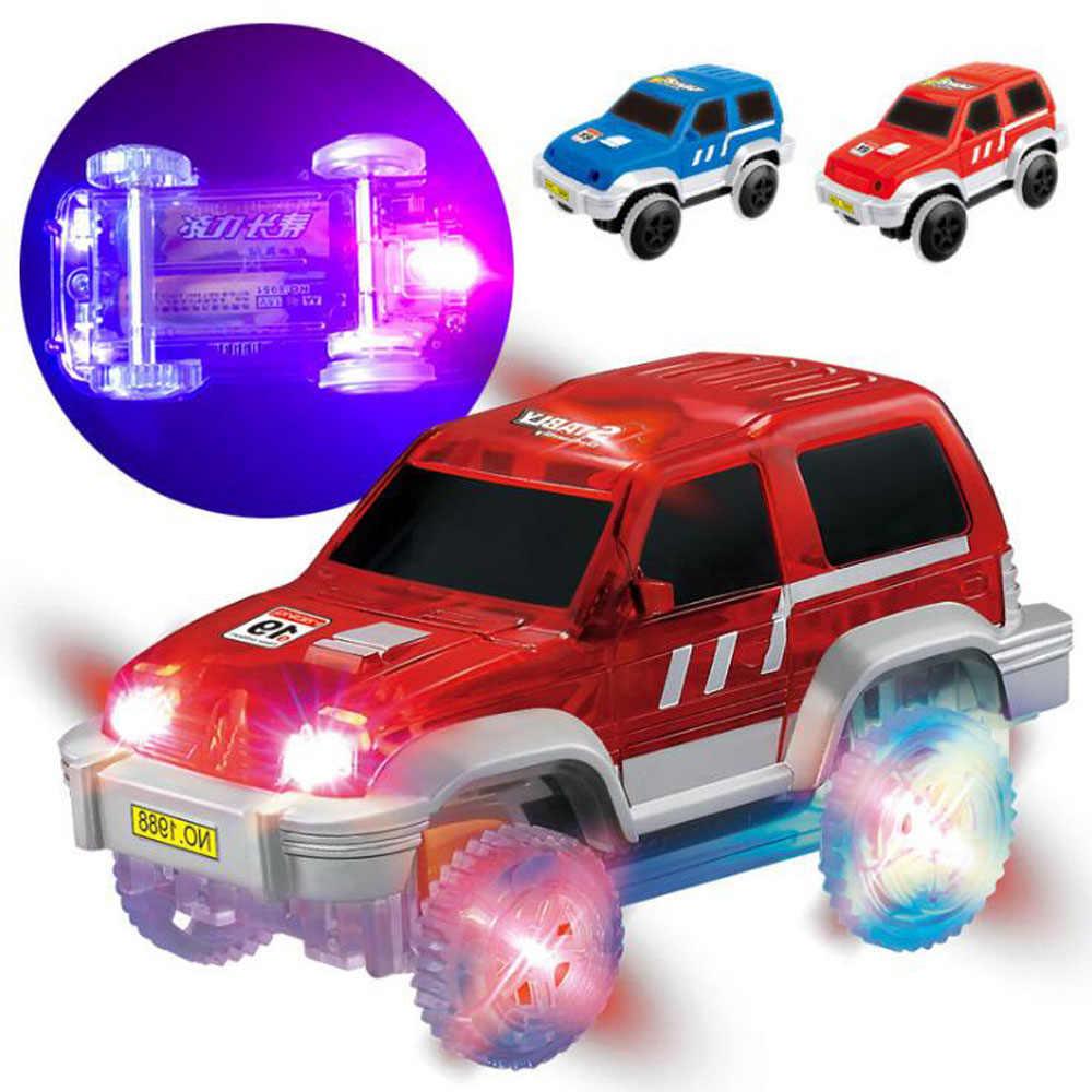 Pista mágica milagrosa pista de carreras brillante DIY accesorios universales rampa giro puente de carretera juguetes para niños
