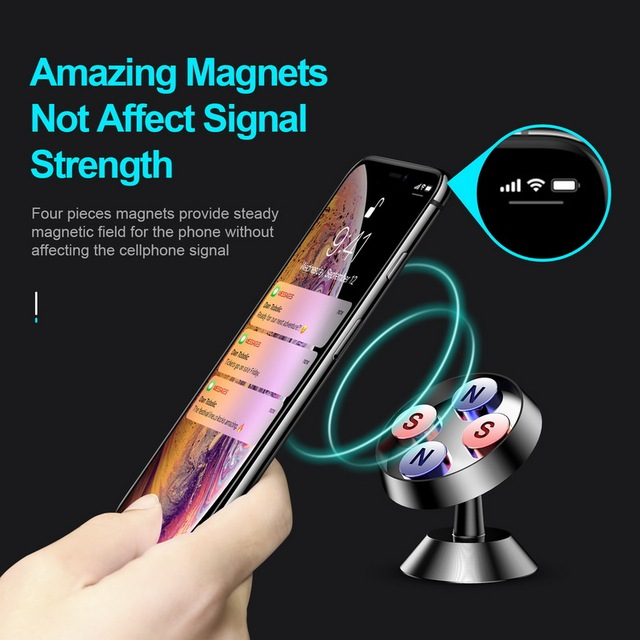 GETIHU Universal Magnetic Car Phone Holder Stand in Car For iPhone X Samsung Magnet Air Vent Mount Cell Mobile Phone Support GPS 3