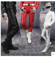 High Quality New Arrivals Winter Personality Male Leather Pants Male Slim Leather Pants Men S Clothing