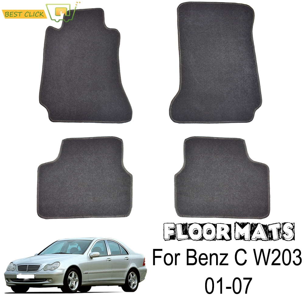 Custom Floor Mat Mats For Benz C C class W203 2001 2007 Waterproof Carpet Rug Protection