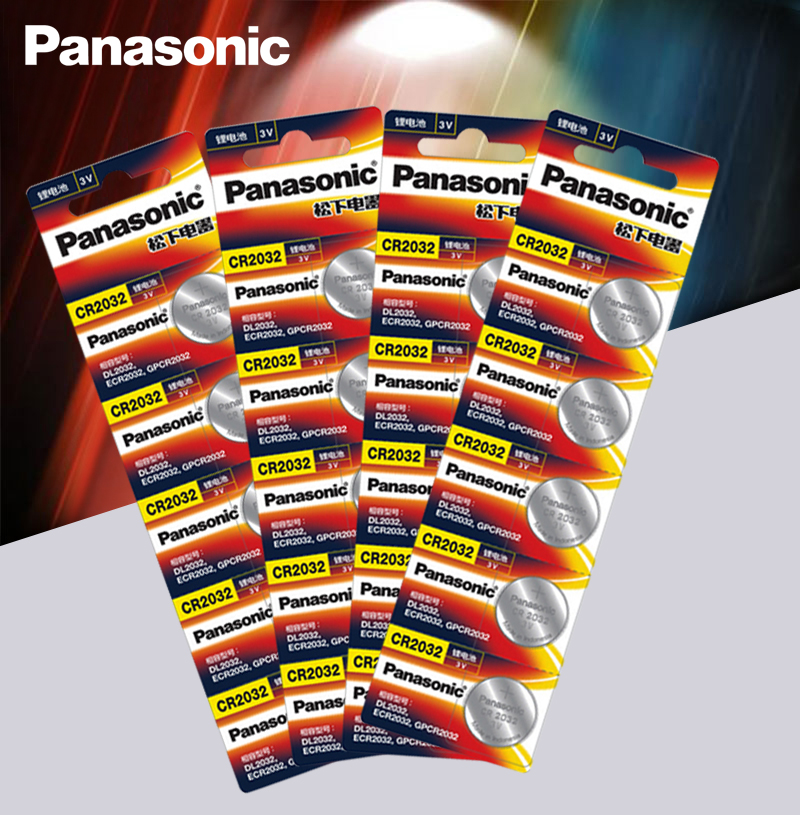 <font><b>Panasonic</b></font> Original 20pcs/lot cr <font><b>2032</b></font> Button Cell Batteries 3V Coin Lithium Battery For Watch Remote Control Calculator cr2032 image