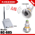 Eazzy BC-685 2.4G Wireless Bulb CCTV Security AV Camera Set Using 600TV lines censor, 36pcs IR LEDs Night Vision Bulb Camera