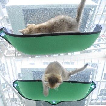 Fenster Pod Liege Saugnäpfe Katze Hängematte Bett Montieren Warme Bett Für Pet Cat Rest Haus Weich Und Bequem Frettchen käfig