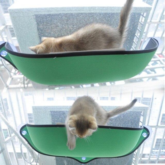 Janela Pod Lounger Ventosas Gato Hammock Cama Montar Cama Quente Para O Resto Do Gato do animal de Estimação Casa de cachorro Macio E Confortável Furão gaiola