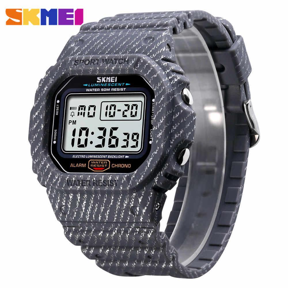 40d78d6cc5fc SKMEI Outdoor Sport Watch Men 5Bar Waterproof Watches Alarm Clock Week  Display Military Fashion Digital Watch