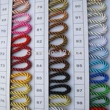 5 мм Сатиновые полиэфирные шнуры три нити веревки Diy фурнитура, Цена указана за 5 метров, сообщите нам код цвета(T7006