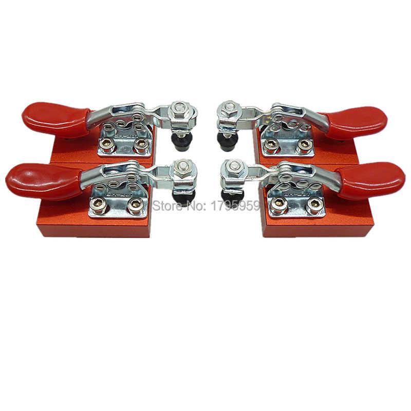 4 piezas Cnc enrutador de abrazadera rápida de la placa de sujeción de prensa rápida Material de grabado montado máquina de grabado de fijación de la platina