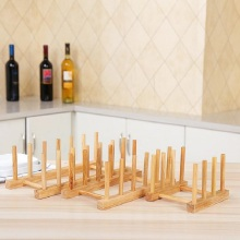 цены 1Pc free Shipping High Quality Solid Wood Dish/Tray Drain Rack Practical kitchen home racks