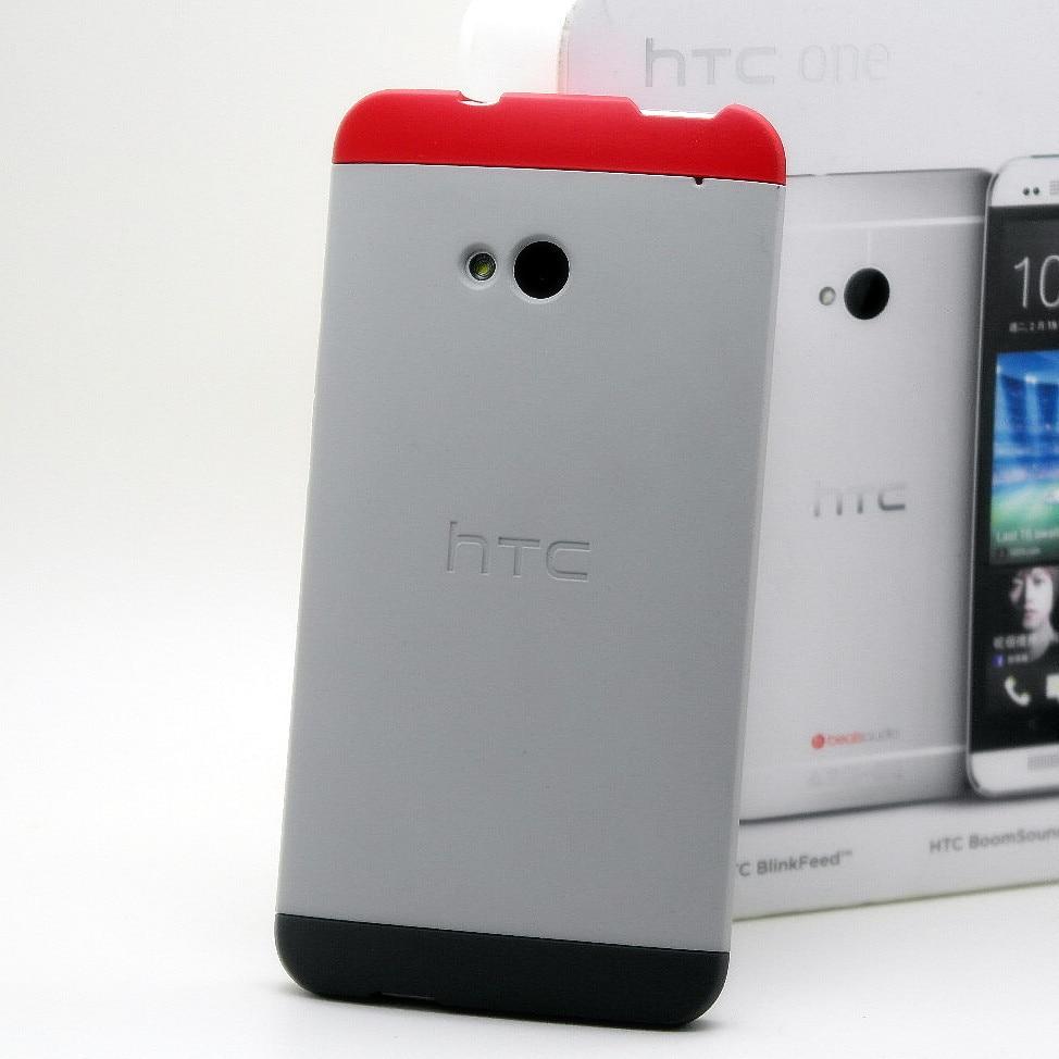 imágenes para Original Double Dip Para HTC Uno M7 Teléfono Celular Móvil de la Cubierta Protectora 3 Tres Colores 1 Paquete Al Por Menor