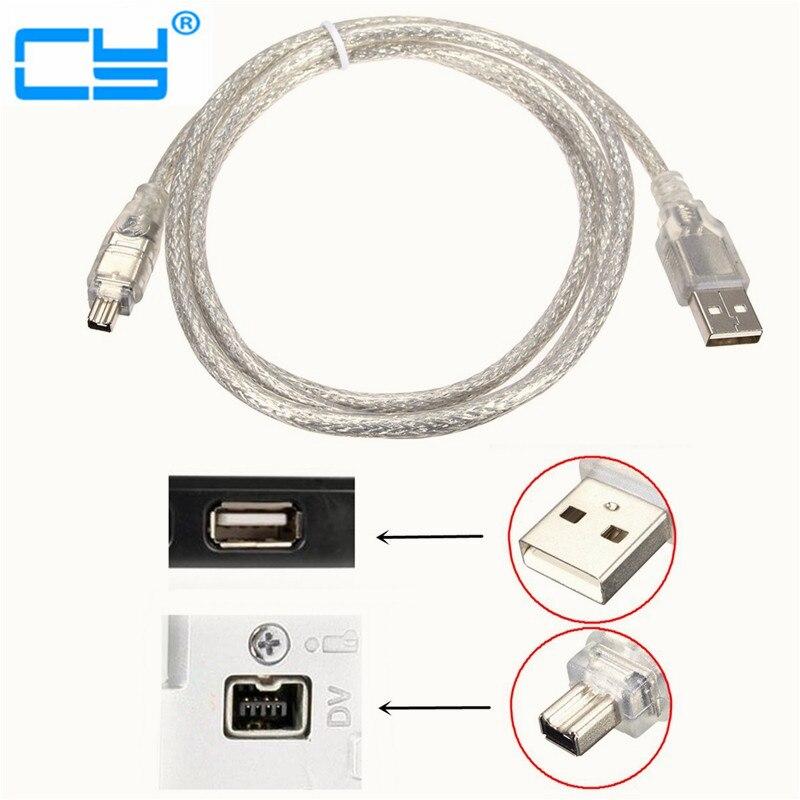 10pcs USB Male to Firewire IEEE 1394 4 Pin Male iLink Adapter Cord ...