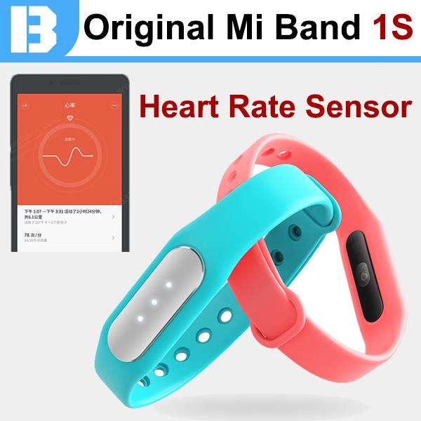 100 Original Xiaomi Mi Band 1s New s1 Bracelet Pro with Heart Rate Bit Meter Sensor