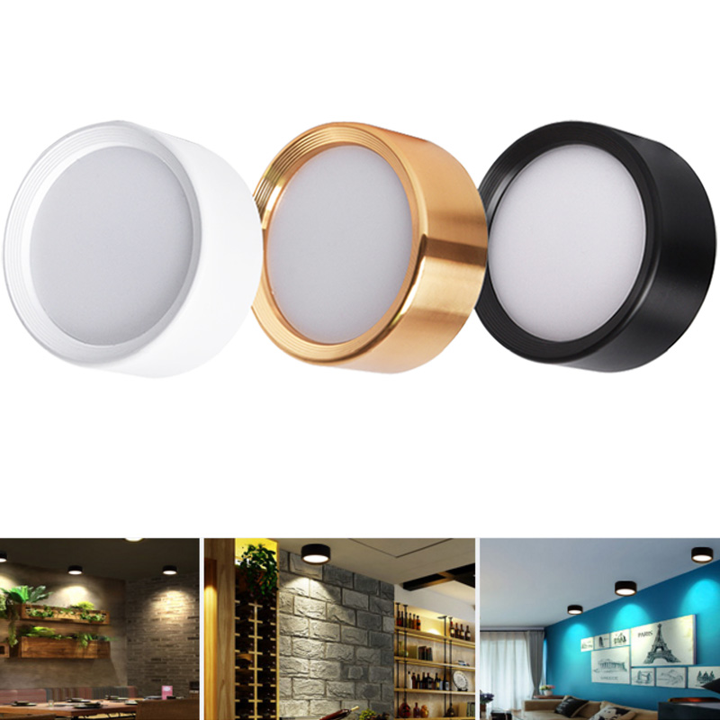 Ultra thin 4 Color LED Ceiling Light Fixture Lamp Surface Mount Living Room Bedroom Bathroom Home Decoration Kitchen AC220 230V(China)