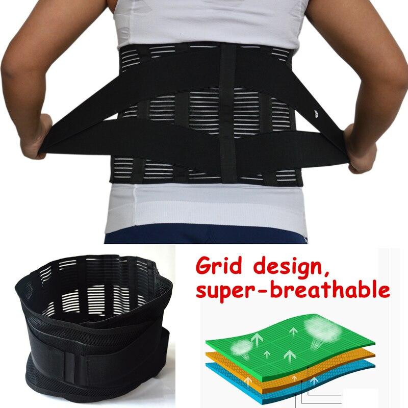 New Elastic Adjustable Orthopedic Posture Corrector Brace Lower Back Waist Trimmer Belt Lumbar Support Belt Corset for Men Women 5