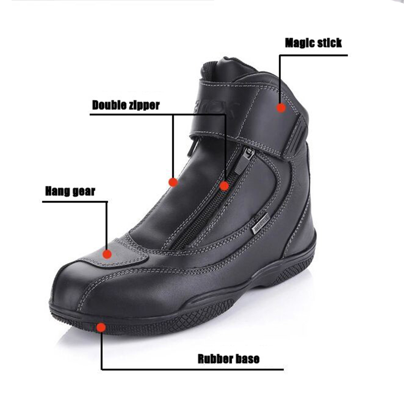 Image 5 - ARCX Waterproof Real Leather climbing Hiking Boots Motorcycle SAFETY GEAR Racing Boots Street Chopper Touring Riding Shoes-in Motocycle Boots from Automobiles & Motorcycles