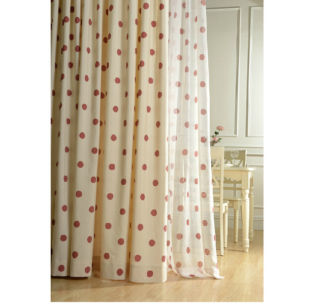 Hot Sale Cotton and Linen Curtain for Living Room Red Dot Bay ...