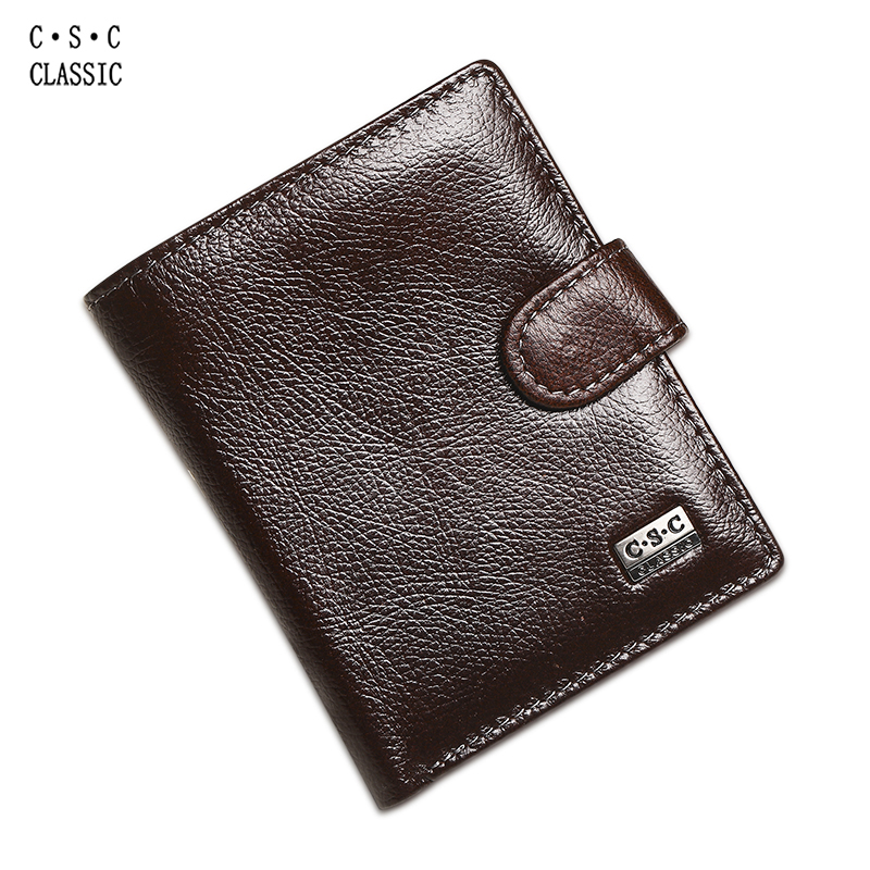 Brown Coffee Soft Cowhide Real Genuine Leather Men Wallets Money Coin Pocket ID Credit Card Holders Purses carteras portefeuille high end brand leather men keep the combination of the real stock exchange zip pocket money cowhide mixed skin