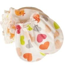 Newborn Baby Mittens Cotton Anti Scratching Baby Gloves For 0 6 Month Babies Newborn Baby Boy Mittens Full Finger Gloves Girl