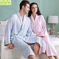 Hombres de las mujeres ropa de dormir camisón niñas manta de Fibra De bambú albornoz amantes de lana suave larga túnica más tamaño primavera otoño