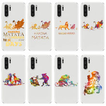 Fashion Cartoon Animation Lion King Soft TPU Silicone Cover Phone Case for Huawei Mate10 Mate20Pro P8 P9 P10 P20Lite 2017 greys anatomy you are my person transparent soft tpu silicone phone cases cover for huawei ascend p8 p9 p10 p20lite p10 p20plus