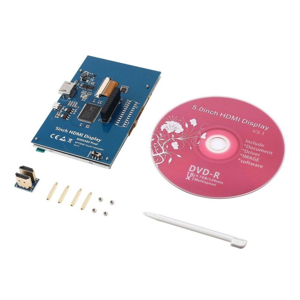 5 Inch 800 x 480 LCD HDMI Touch Screen Display TFT LCD Panel Module Shield For Banana Pi & Raspberry Pi 2 Model B/B+
