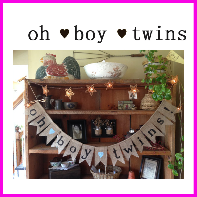 Online buy wholesale twin decorations from china twin for Baby shower decoration ideas for twin boys