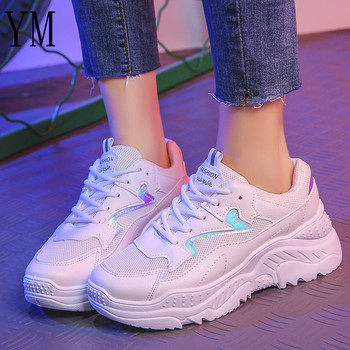 6714a3dc5 Весенняя модная женская повседневная обувь замшевые кожаные туфли на  платформе женские кроссовки Женская Белая обувь инструкторов .