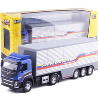High Simulation 1 32 Alloy Pull Back Container Semi Engineering Car Volvo Truck Original Packaging Gift