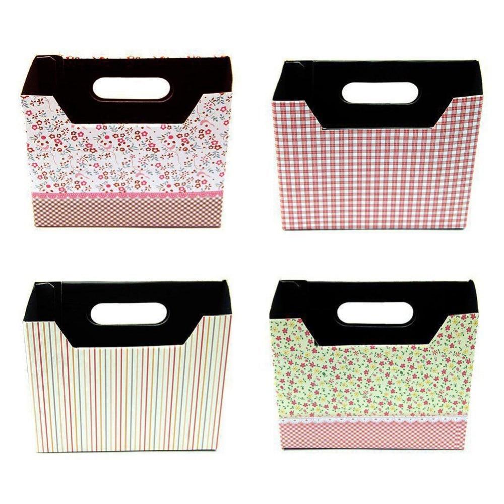 Liplasting DIY Makeup Cosmetic Stationery Paper Material Storage Box Organizer Box Desk Decor Organizer Case Color Random