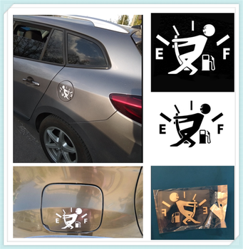 10CM * 14CM car styling fuel tank cap logo sticker decal funny for Volkswagen vw Phaeton 4.2 EOS 3.2 V6 image